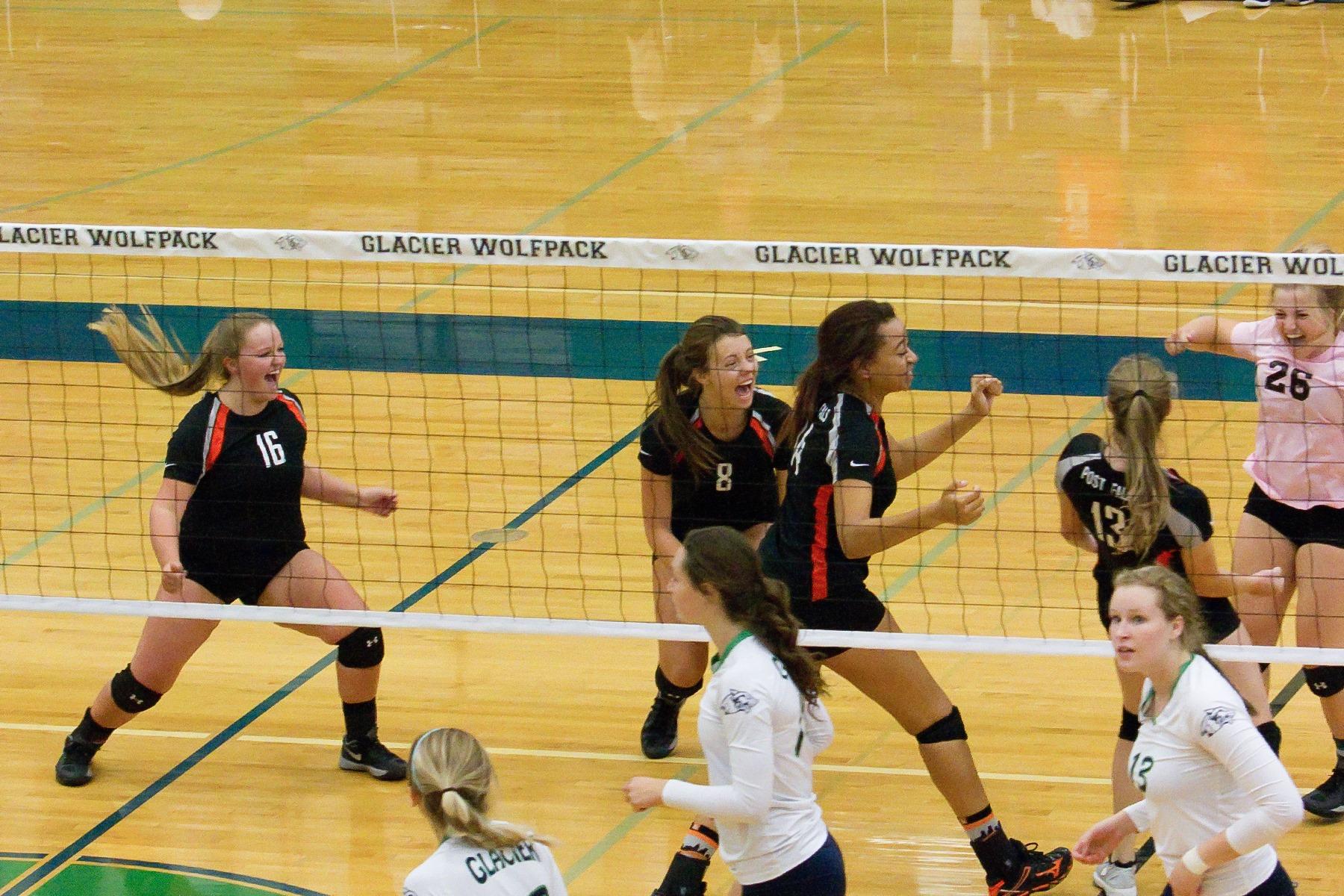 Post Falls High School Girls Varsity Volleyball Fall 2017