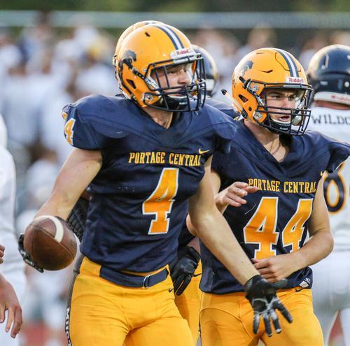 Portage Central High School Boys Varsity Football Fall 2017 2018
