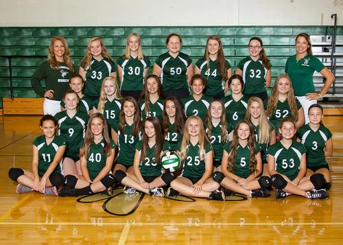 2017 8th Grade Volleyball Team Picture