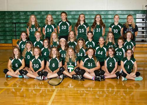 2017 7th Grade Volleyball Team Picture