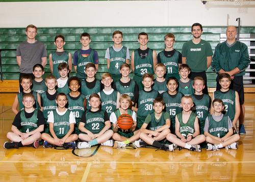 2017 7th Grade Boys Basketball Team Picture