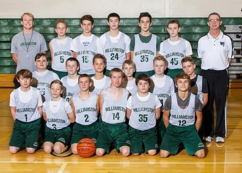 2017 8th Grade Boys Basketball Team Picture