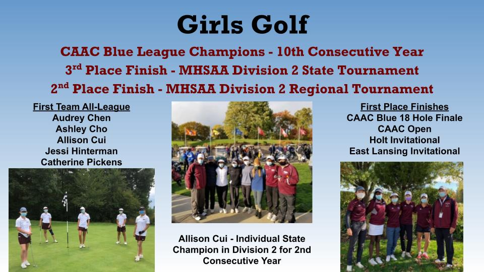 Girls Varsity Golf